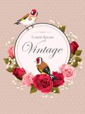 Vintage card with roses Royalty Free Stock Photo