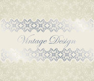 Vintage card Stock Photography