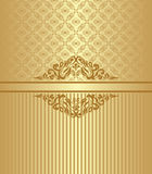 Vintage card with a seamless pattern Royalty Free Stock Photography