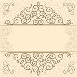 Vintage card with space for text Royalty Free Stock Photo