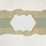 Vintage card with space for text. EPS 8. Vector file included Royalty Free Stock Image