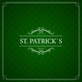 Vintage card. St. Patrick's Day. With the text. Royalty Free Stock Photo