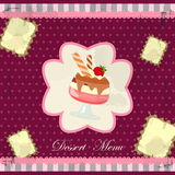 Vintage card with a strawberry dessert Royalty Free Stock Image