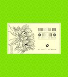 Vintage  card with sunflower Royalty Free Stock Photo