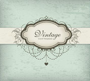 Vintage card template Stock Photography