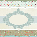 Vintage card template with copy space. EPS 8. Vector file included Royalty Free Stock Image