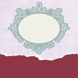 Vintage card template with copy space. EPS 8. Vector file included Stock Photo