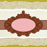 Vintage card template with copy space. EPS 8. Vector file included Stock Photography