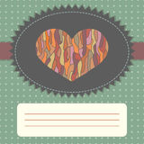Vintage card template with heart Stock Image