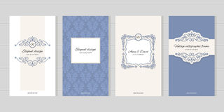 Vintage card templates. For wedding invitations, beauty industry brochures design. Royalty Free Stock Photography