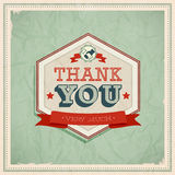 Vintage card - Thank You. Royalty Free Stock Images