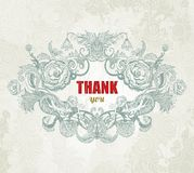 Vintage Card - Thank You. Vector, EPS10 Stock Images