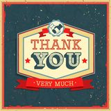 Vintage card - Thank You. Vector illustration Royalty Free Stock Photos