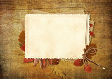 Vintage card on wooden background Stock Photography
