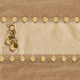Vintage cardboard background with rose Royalty Free Stock Images