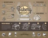 Vintage cardboard bakery menu design. Stock Photography