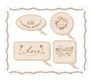 Vintage cardboard bubbles collection Royalty Free Stock Photography