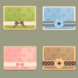 Vintage cards Royalty Free Stock Images