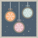 Vintage Cards With Christmas Balls Royalty Free Stock Images