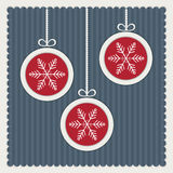 Vintage Cards With Christmas Balls Royalty Free Stock Photography