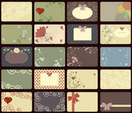 Vintage cards collection Royalty Free Stock Images