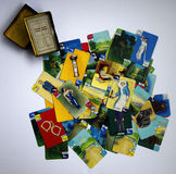 Vintage cards from a 1935 Crime club game. Royalty Free Stock Photography