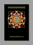 Vintage cards with Floral mandala pattern and ornaments. Vector Flyer oriental design. Islam, Arabic, Indian, ottoman motifs. royalty free illustration