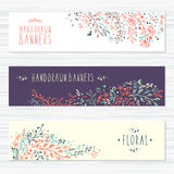 Vintage cards with flower patterns and floral Royalty Free Stock Image