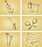 Vintage cards with musical Royalty Free Stock Images