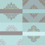 Vintage cards vector designs set Royalty Free Stock Images