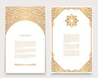 Free Vintage Cards With Gold Border Pattern Royalty Free Stock Photos - 119166298