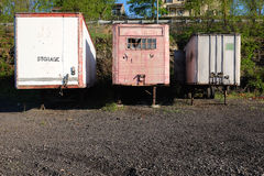 Vintage Cargo Trailers Royalty Free Stock Image
