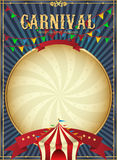 Vintage carnival. Circus poster template. Vector illustration. Festive Background. Festive poster. Poster in vintage style. Circus. Hand drawing. Retro card Stock Photos