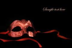 Vintage carnival mask. On black background Stock Images