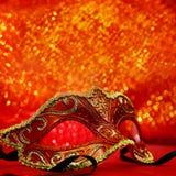 Vintage carnival mask. In glittering background Stock Image