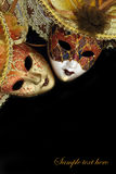 Vintage carnival masks Royalty Free Stock Images