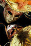 Vintage carnival masks Stock Images