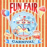 Vintage carnival poster template royalty free illustration