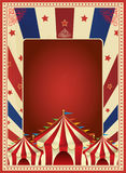 Vintage carnival poster template vector. Mardi gras. Circus. illustration Royalty Free Stock Photo