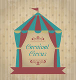 Vintage carnival poster for your advertising Royalty Free Stock Photo