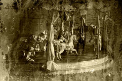 Vintage carousel Stock Photography