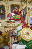 Vintage carousel horse detail Stock Photography