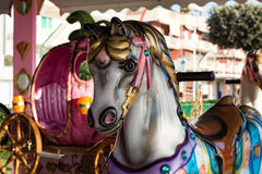 Vintage carousel horse Stock Photography