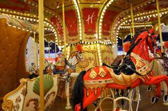 Carousel in a toy shop Royalty Free Stock Image