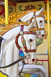 Vintage carousel or merry-go-round Royalty Free Stock Images