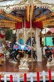 Vintage carousel or merry-go-round Stock Photos