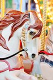 Vintage carousel merry-go-round painted horses Royalty Free Stock Image