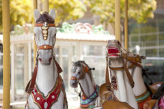Vintage carousel outside Royalty Free Stock Photos