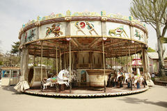 Vintage carousel ride Stock Photo