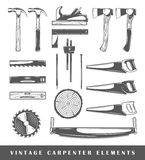 Vintage carpenter elements Royalty Free Stock Image